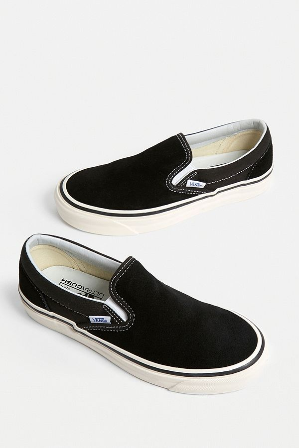 454f52b9212c Vans Classic Black + White Slip-On 98 DX Trainers | Urban Outfitters UK