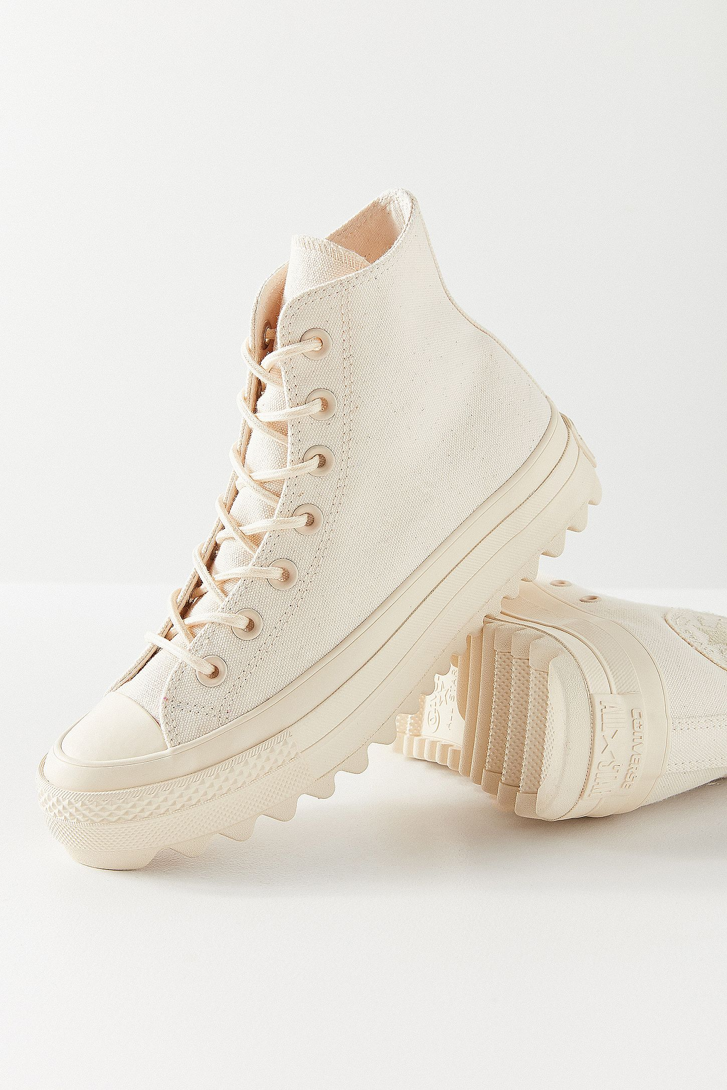 4e1141844413 Converse Chuck Taylor All Star Lift Ripple Ivory High Top Trainers. Click  on image to zoom. Hover to zoom. Double Tap to Zoom