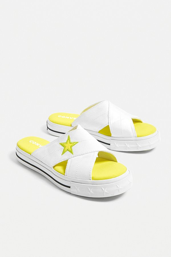 Converse - Sandales One Star jaunes fluo