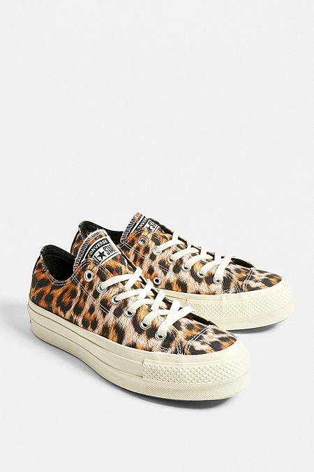 726af7556ba Converse Chuck Taylor All Star Lift Leopard Print Low Top Trainers · Quick  Shop