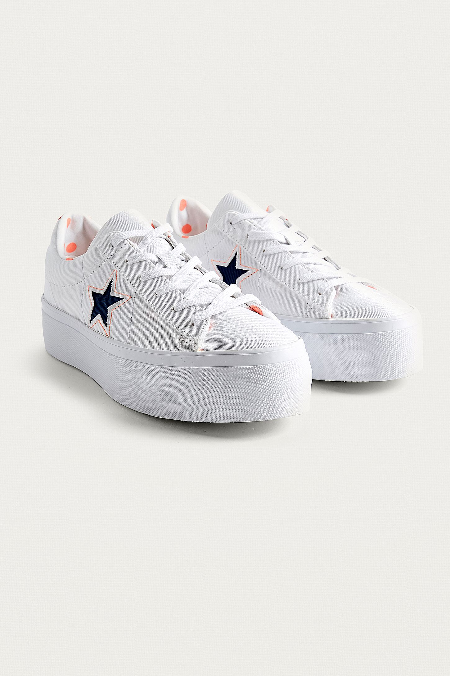bc33b14c994 Converse One Star White Platform Trainers. Click on image to zoom. Hover to  zoom. Double Tap to Zoom