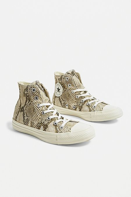 5cbcd978e4fa65 Converse Chuck Taylor All Star Snake Print High Top Trainers