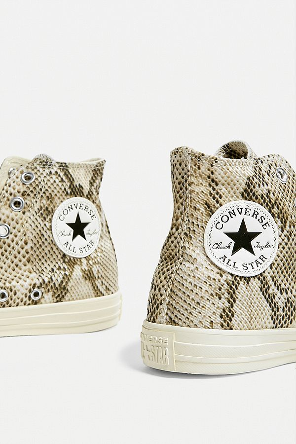 Converse Chuck Taylor All Star Snake Print High Top Trainers