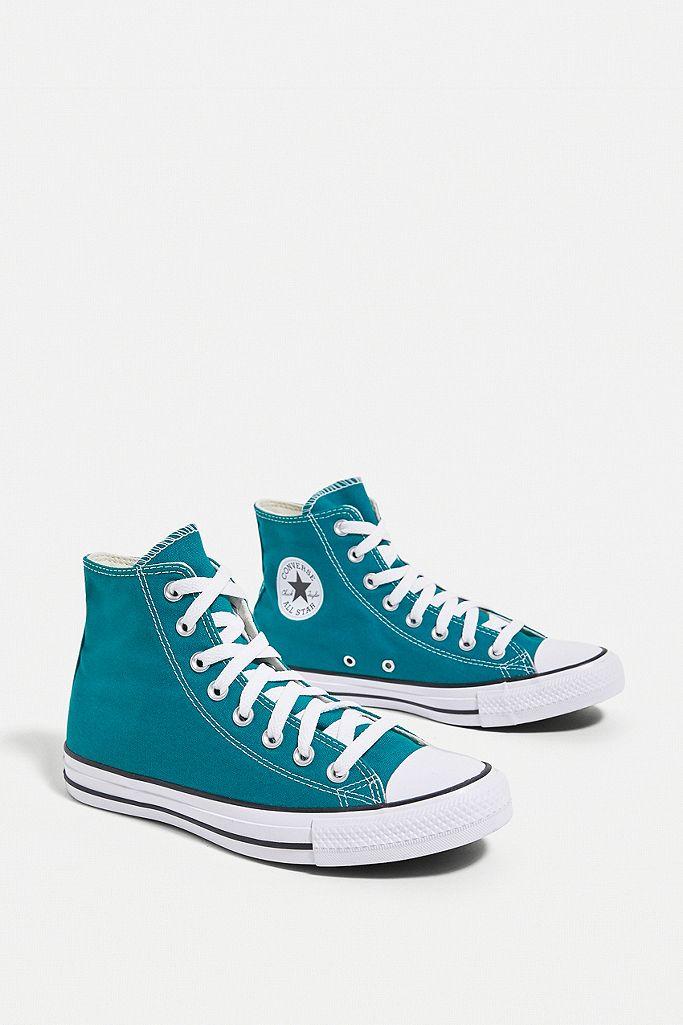 converse bleu vert