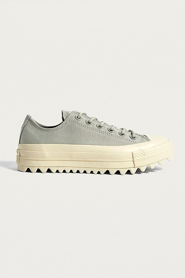 Converse - Baskets basses Chuck Taylor All Star Lift Ripple grises