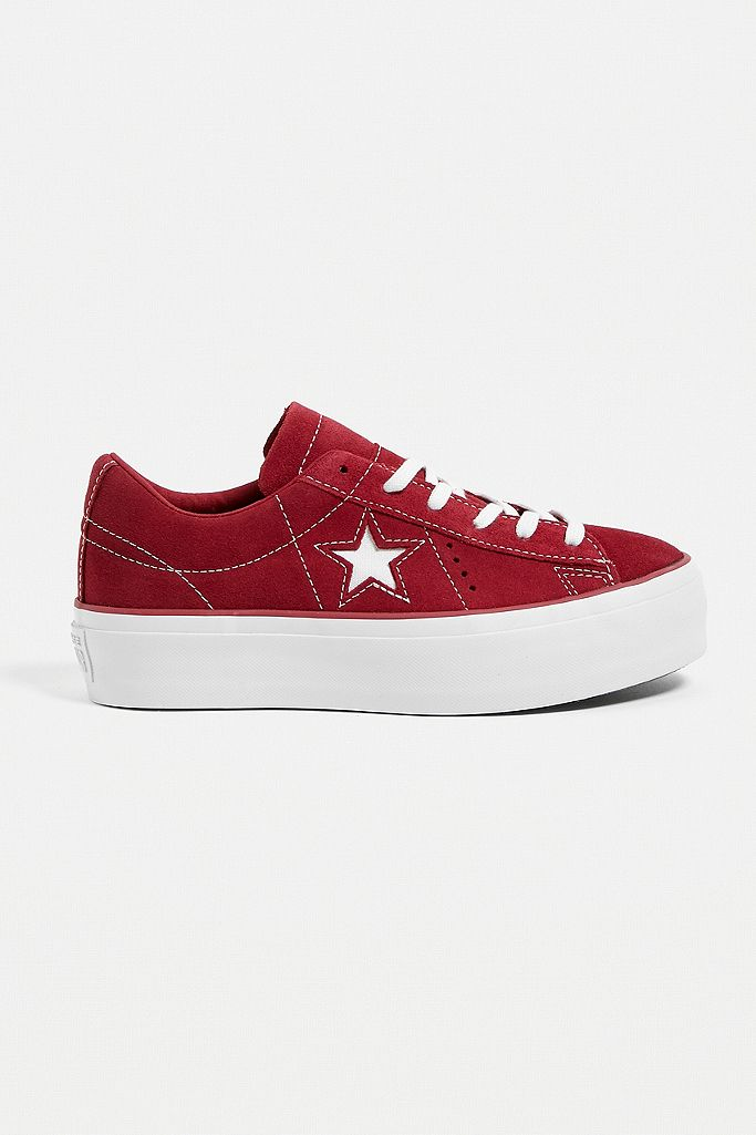 Converse Baskets One Star à plateforme roses