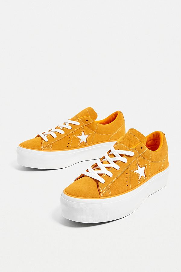 Converse Baskets One Star à plateforme oranges