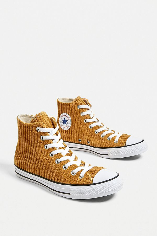 new styles buy online new authentic Converse Chuck Taylor All Star Wheat Corduroy High Top Trainers