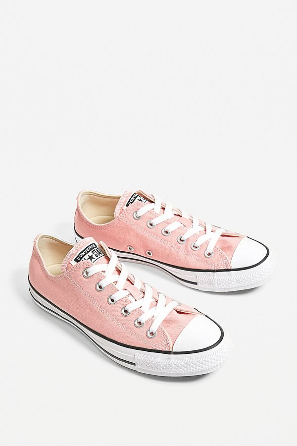 low priced 43a1c 73de2 Converse Chuck Taylor All Star Ox Pink Low Top Trainers