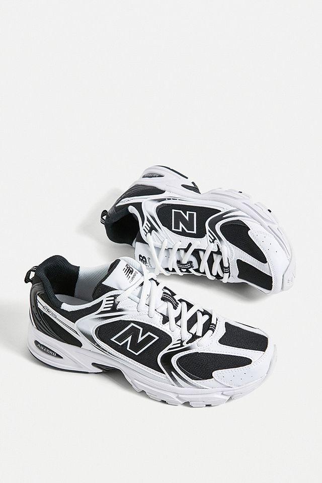 New Balance 530 - Baskets noires et blanches