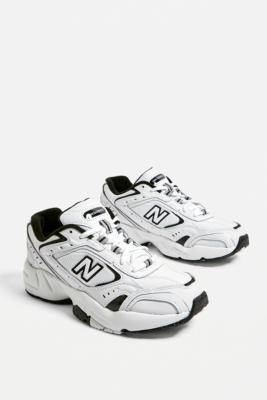 new balance black and white trainers