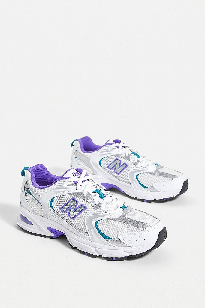 New Balance 530 White & Blue Trainers