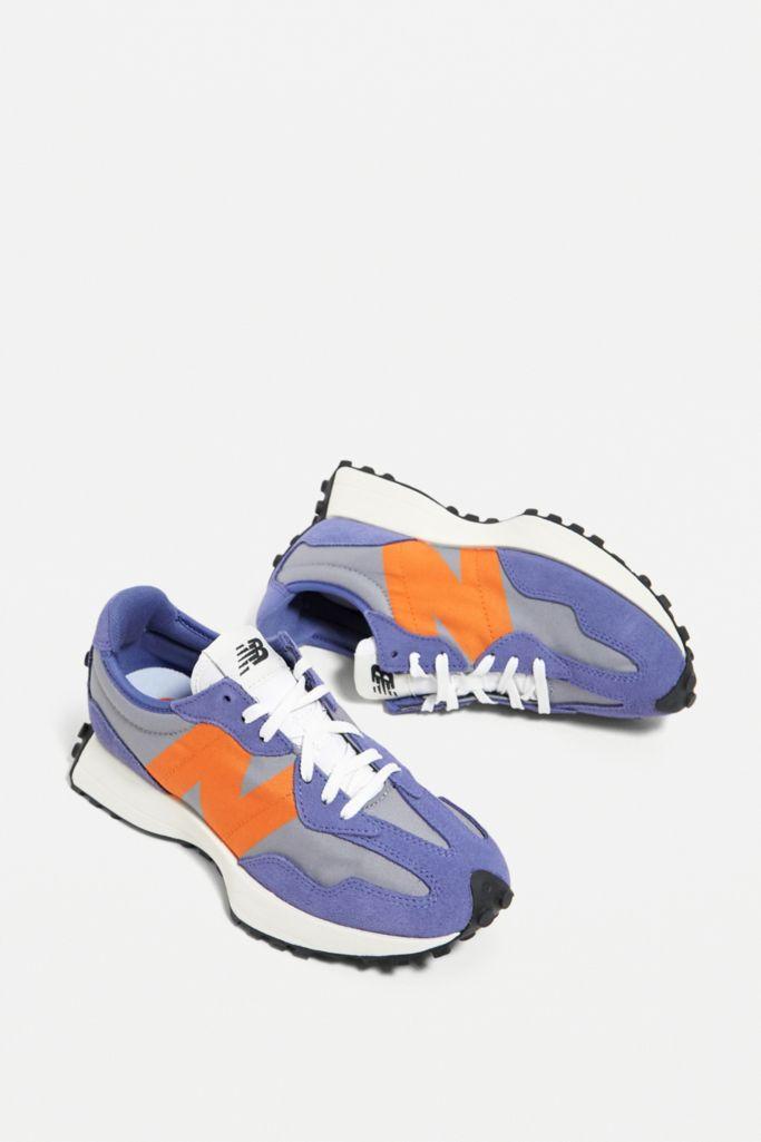 urban outfitters  New Balance 327 Purple & Orange Trainers