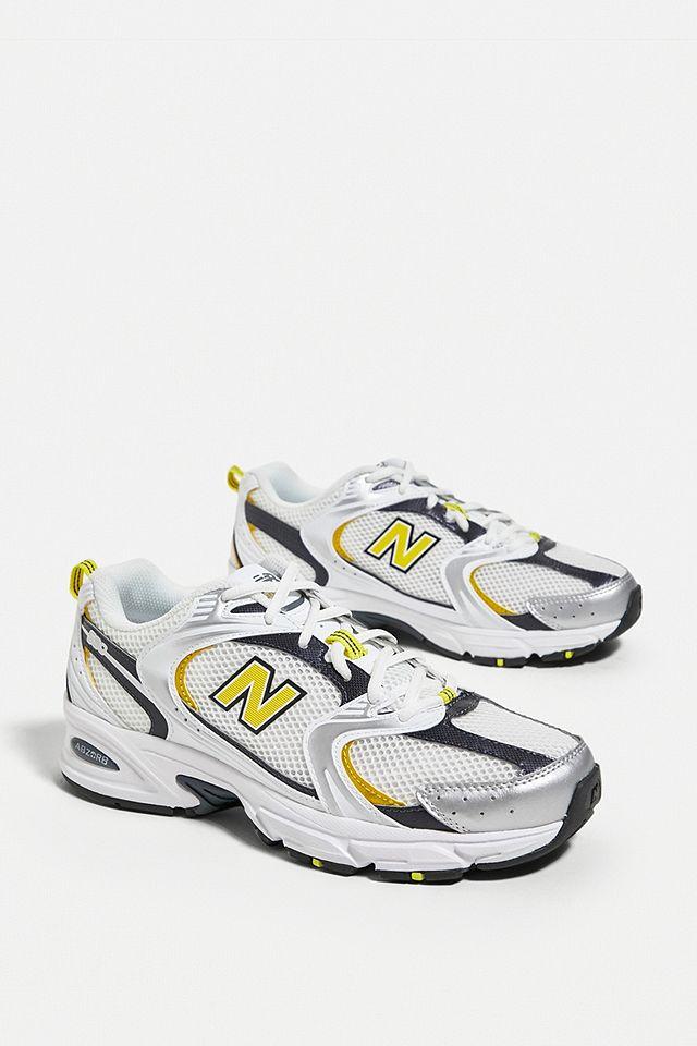 New Balance 530 White & Yellow Trainers
