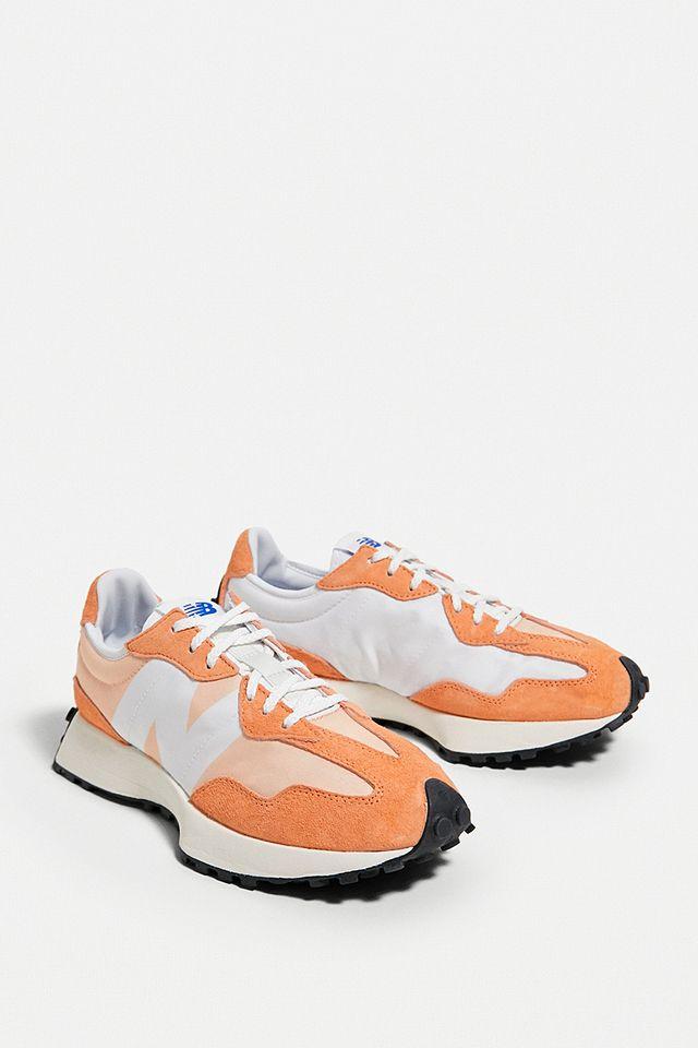 New Balance 327 Orange & White Trainers