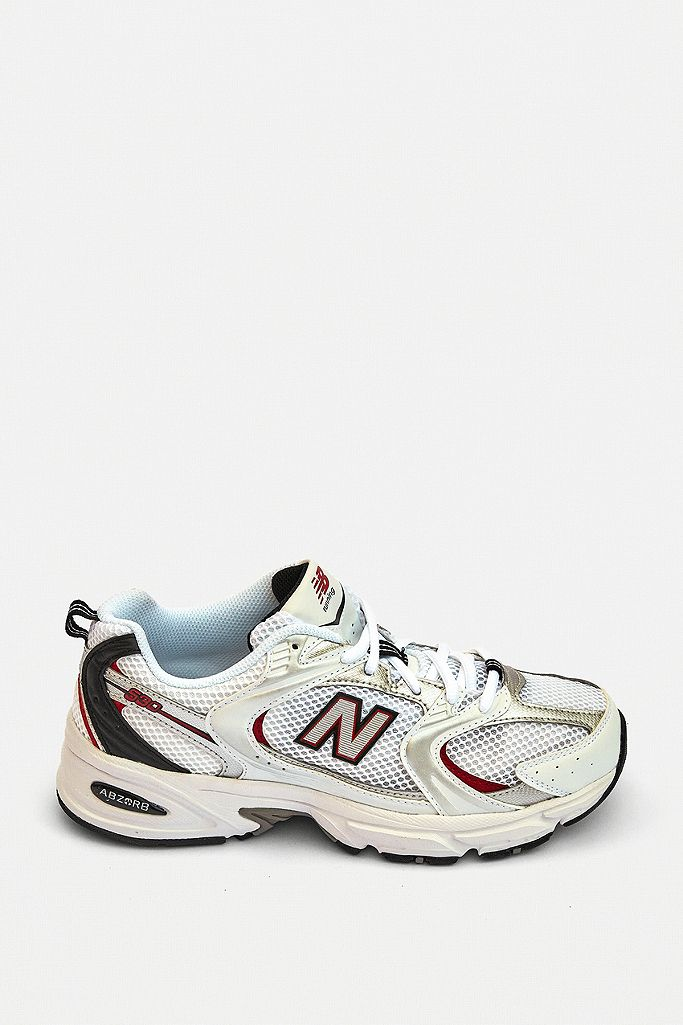 New Balance 530 White & Red Trainers