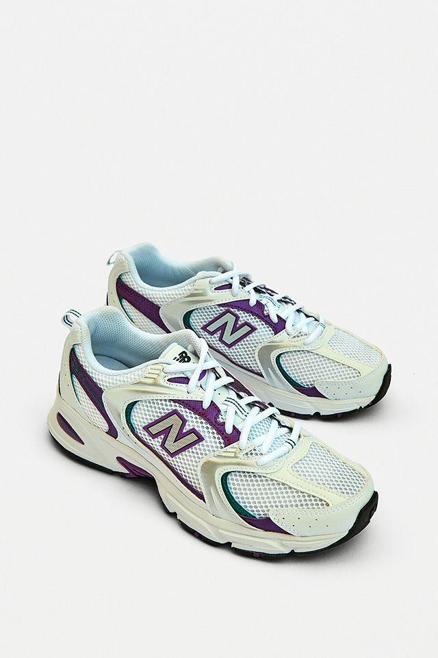 New Balance 530 White & Purple Trainers