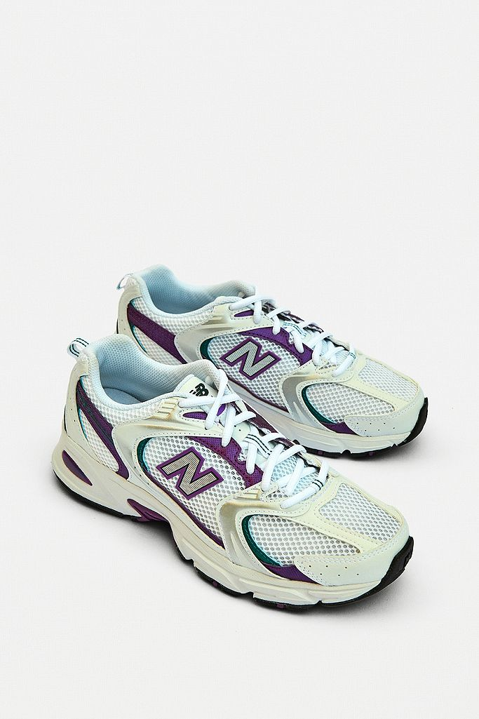 New Balance 530 White & Purple Trainers