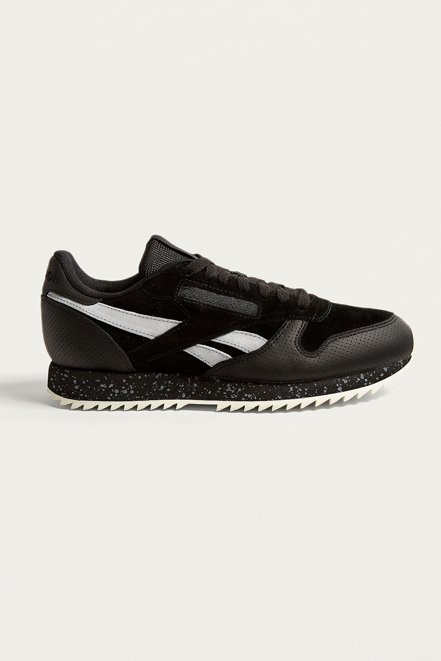2ad8f1b725ad4 Reebok Classic Black Leather Ripple Trainers