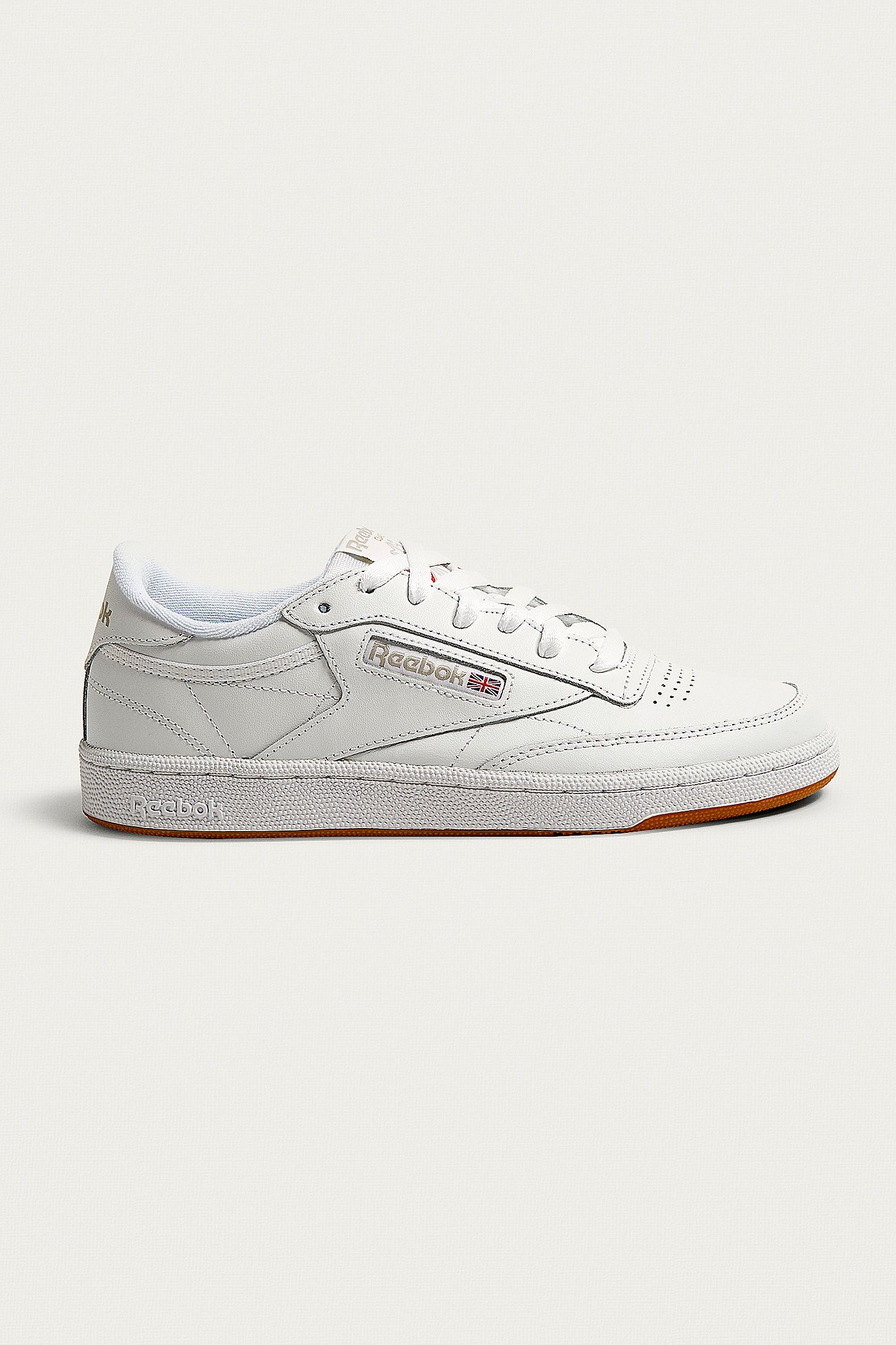 b7a5d5dd2021f Reebok White Club C 85 Gum Sole Trainers. Click on image to zoom. Hover to  zoom. Double Tap to Zoom