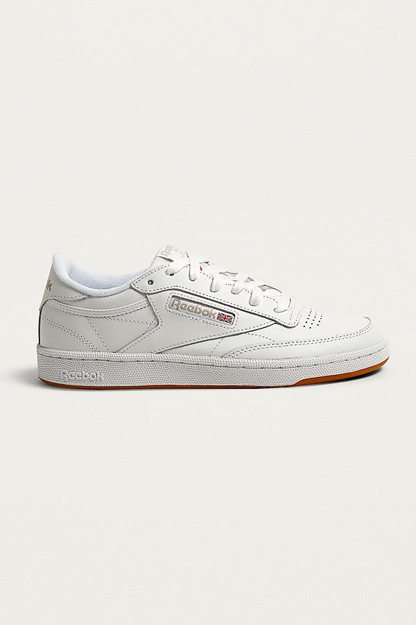 Reebok White Club C 85 Gum Sole Trainers  dd754b831