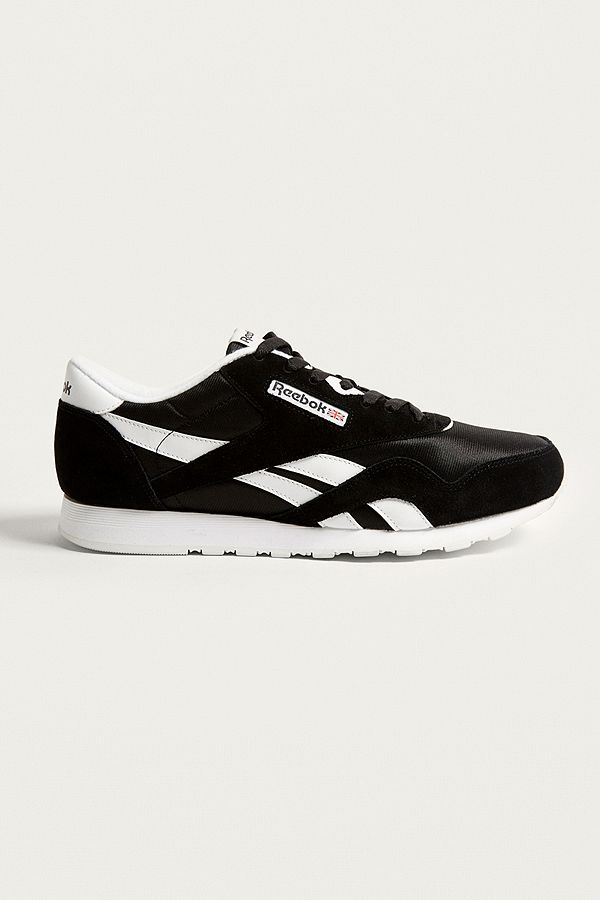 110d9f4c192 Reebok Classic Black and White Nylon Trainers