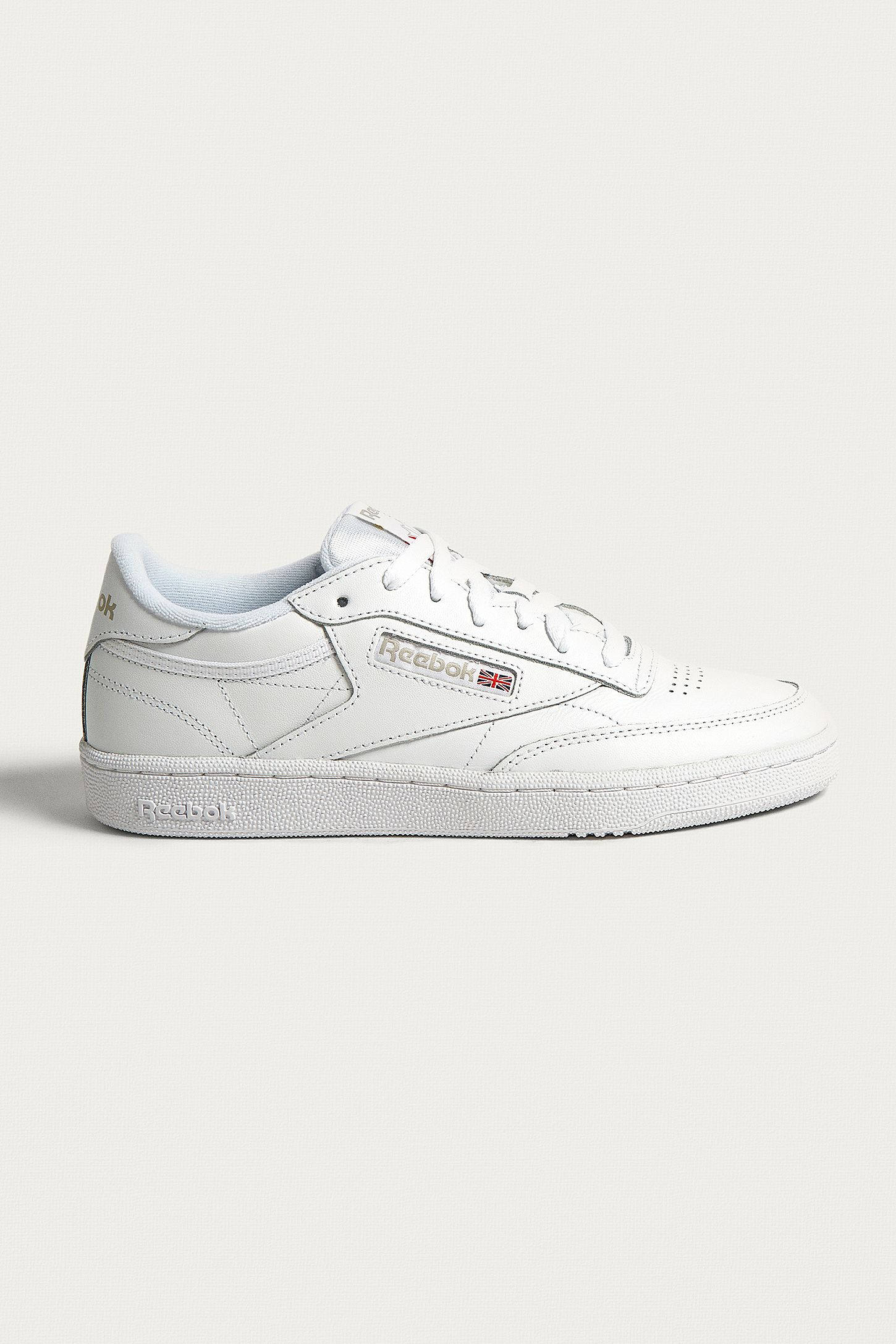 6acaa7a1fcf Reebok Club C 85 White on White Leather Trainers | Urban Outfitters UK