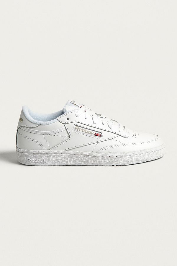 d9eed01545d Reebok Club C 85 White on White Leather Trainers
