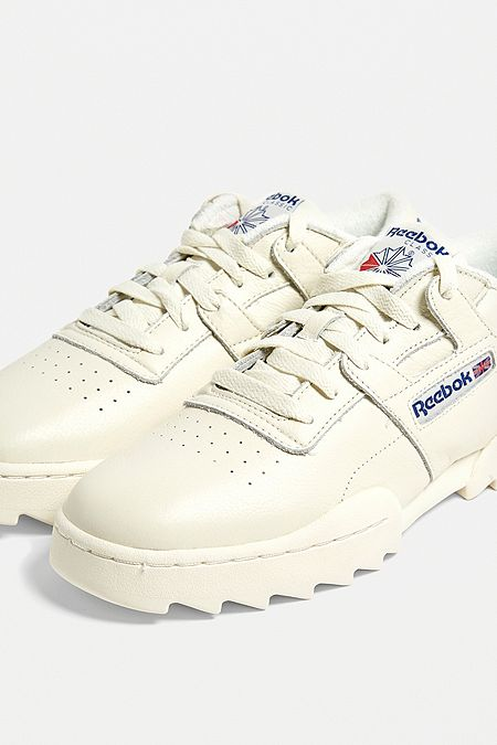 new styles 55cc9 0724e Reebok Work Out Ripple White Trainers