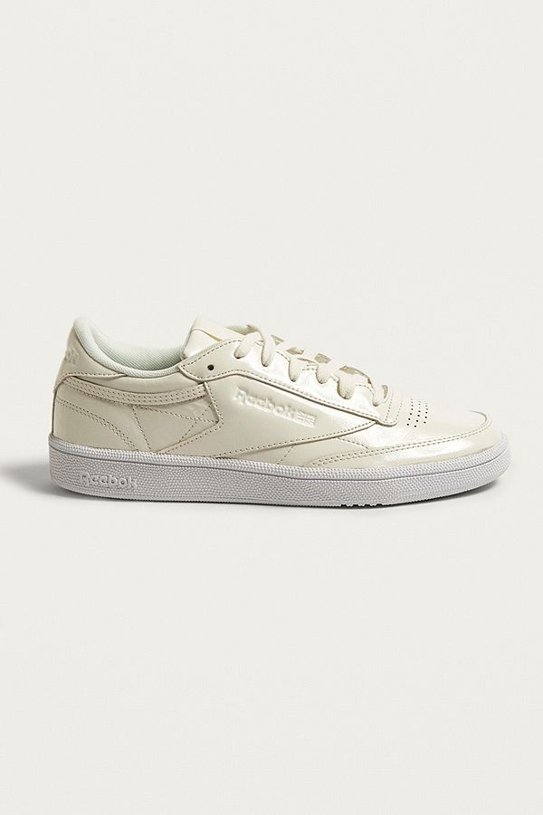 db0451f488e Reebok Club C 85 White Patent Trainers