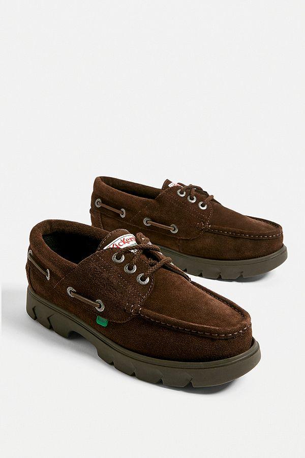 sélection premium 50530 951c0 Kickers - Chaussures bateau Lennon marron