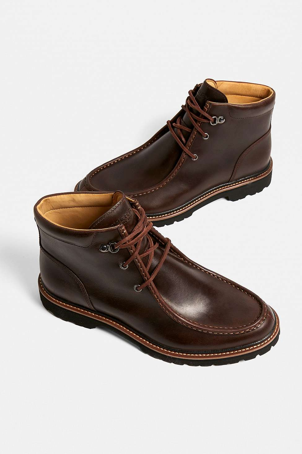 Sperry Authentic Original Mini Lug Brown Leather Chukka Boots