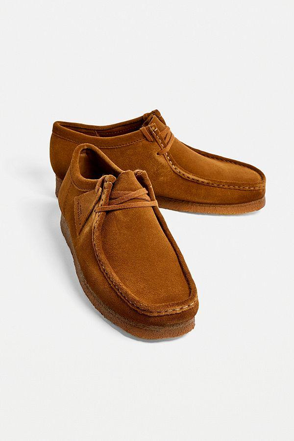 """buy online 5cce1 5f54d Clarks – Schuhe """"Wallabee"""" aus Wildleder in Cola"""