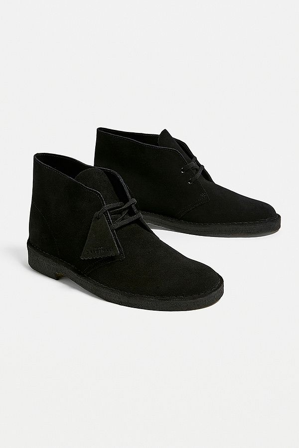 143f22421 Clarks Black Suede Desert Boots | Urban Outfitters UK