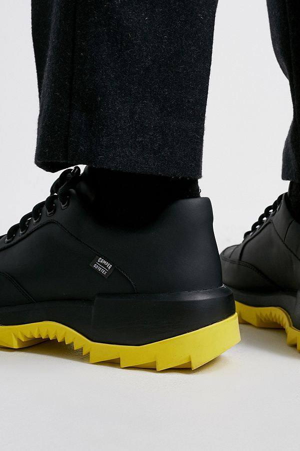 estilo moderno mejor calidad nueva llegada Camper Helix Black and Yellow GORE-TEX® Boots