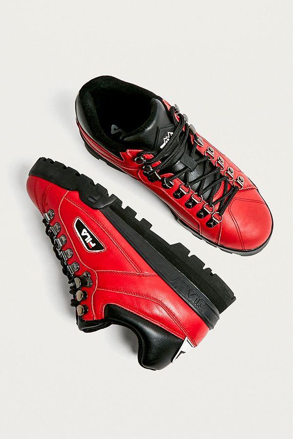 0393a9ca4214 FILA Trailblazer Red Trainers