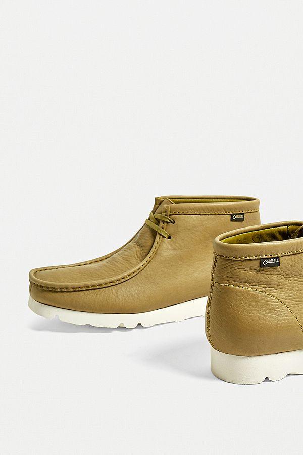 Chaussures En Wallabees Tex Clarks Gore Kaki Ybf6yg7