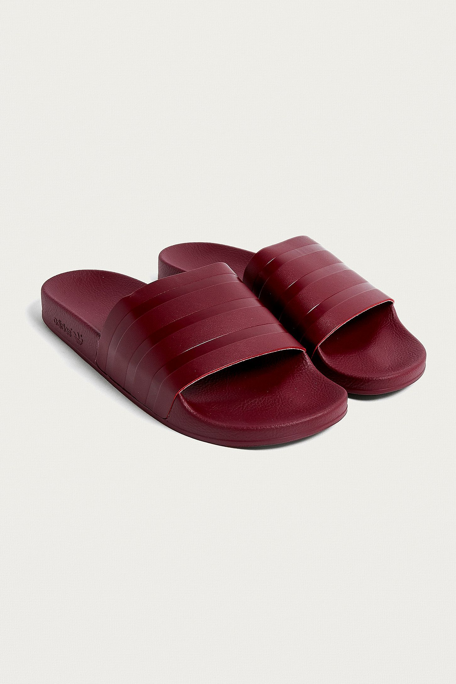 ea51e5e86060 adidas Adilette Burgundy Pool Sliders. Click on image to zoom. Hover to  zoom. Double Tap to Zoom