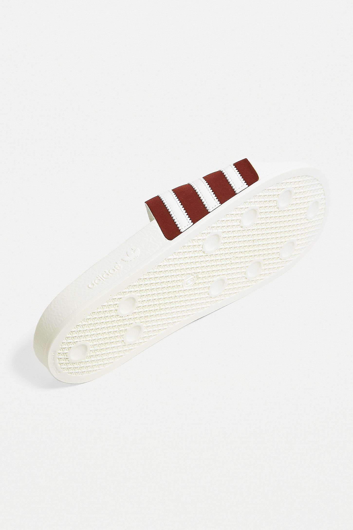 b57409ee70fe Slide View  5  adidas Adilette White and Burgundy Pool Sliders