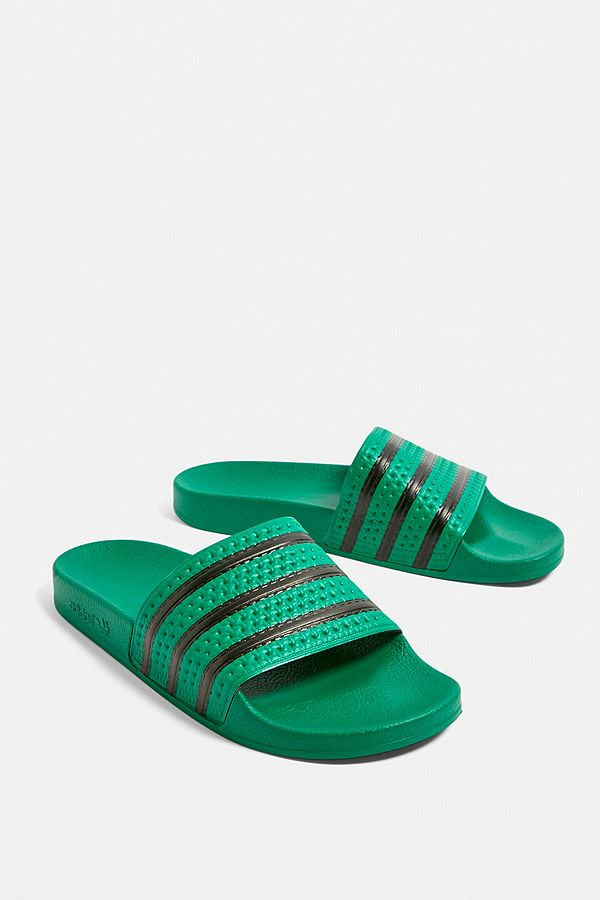 9a4a9a5bc95a04 Slide View  1  adidas Adilette Green Pool Sliders