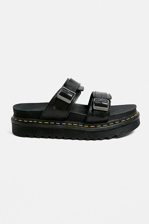 3e5ecf1dc Dr. Martens Myles Brando Black Sandals | Urban Outfitters UK