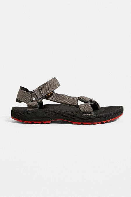 937cdddaf1 Teva Winsted Solid Black and Red Sandals