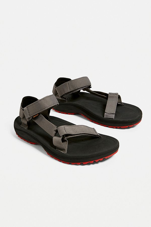 35099bccf1ce Slide View  4  Teva Winsted Solid Black and Red Sandals