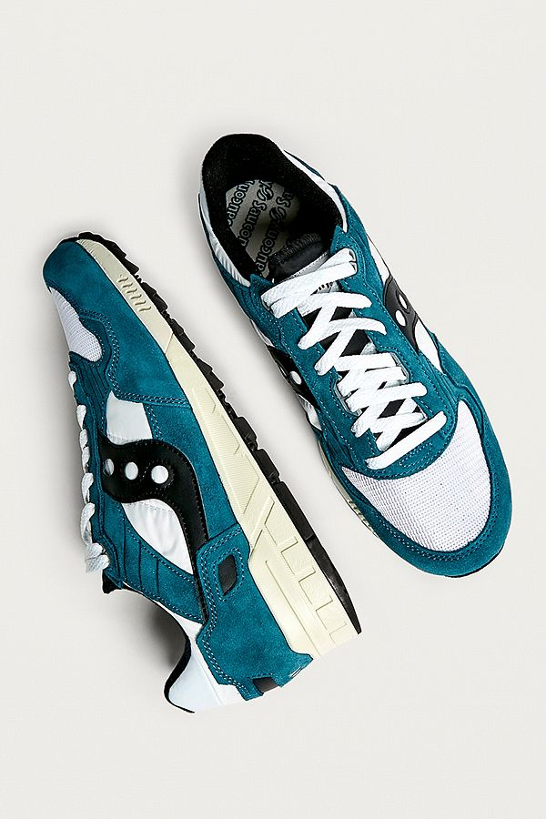 40810581edf1 Saucony Shadow 5000 Vintage Teal and White Trainers