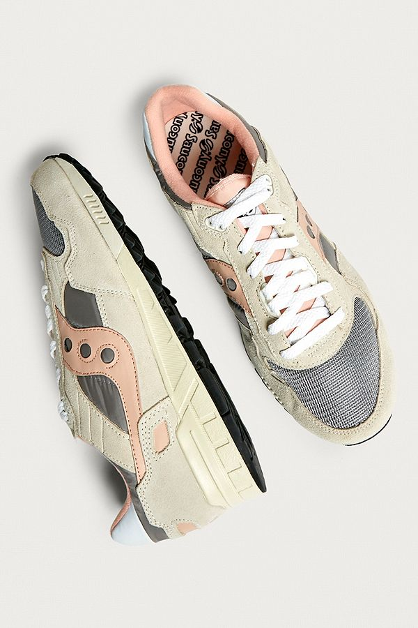 79b818fa0687 Saucony Shadow 5000 Vintage Creme and Pink Trainers