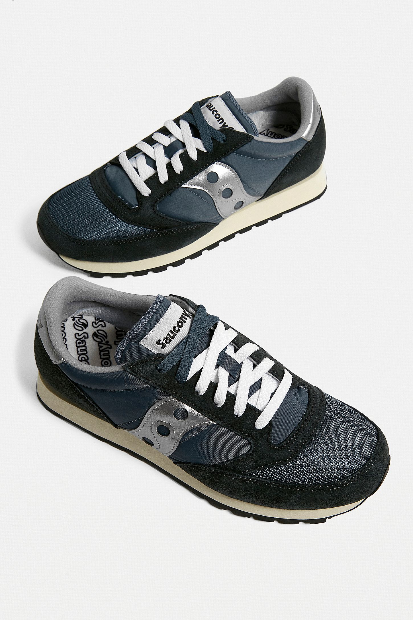 finest selection 4cc6b 889a1 Saucony Jazz Original Blue, Navy and Silver Trainers
