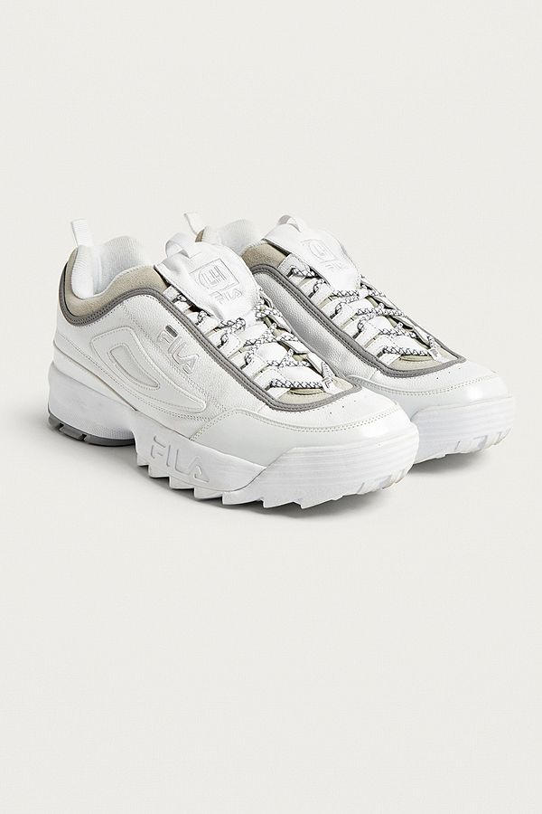 be4f33a005c8 FILA X Liam Hodges Disruptor II White Trainers   Urban Outfitters UK