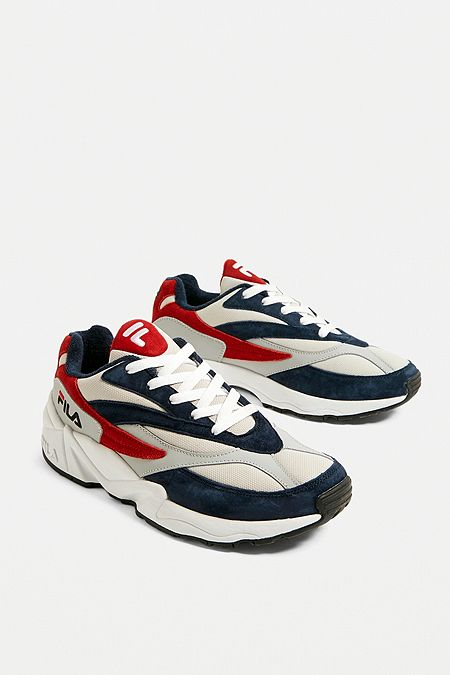 9928a41d28a5 FILA Venom Navy and Grey Trainers