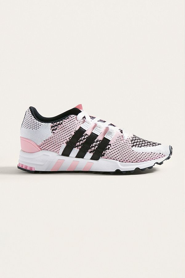 promo code 96eeb 778a8 adidas EQT Support ADV Pink and White Trainers