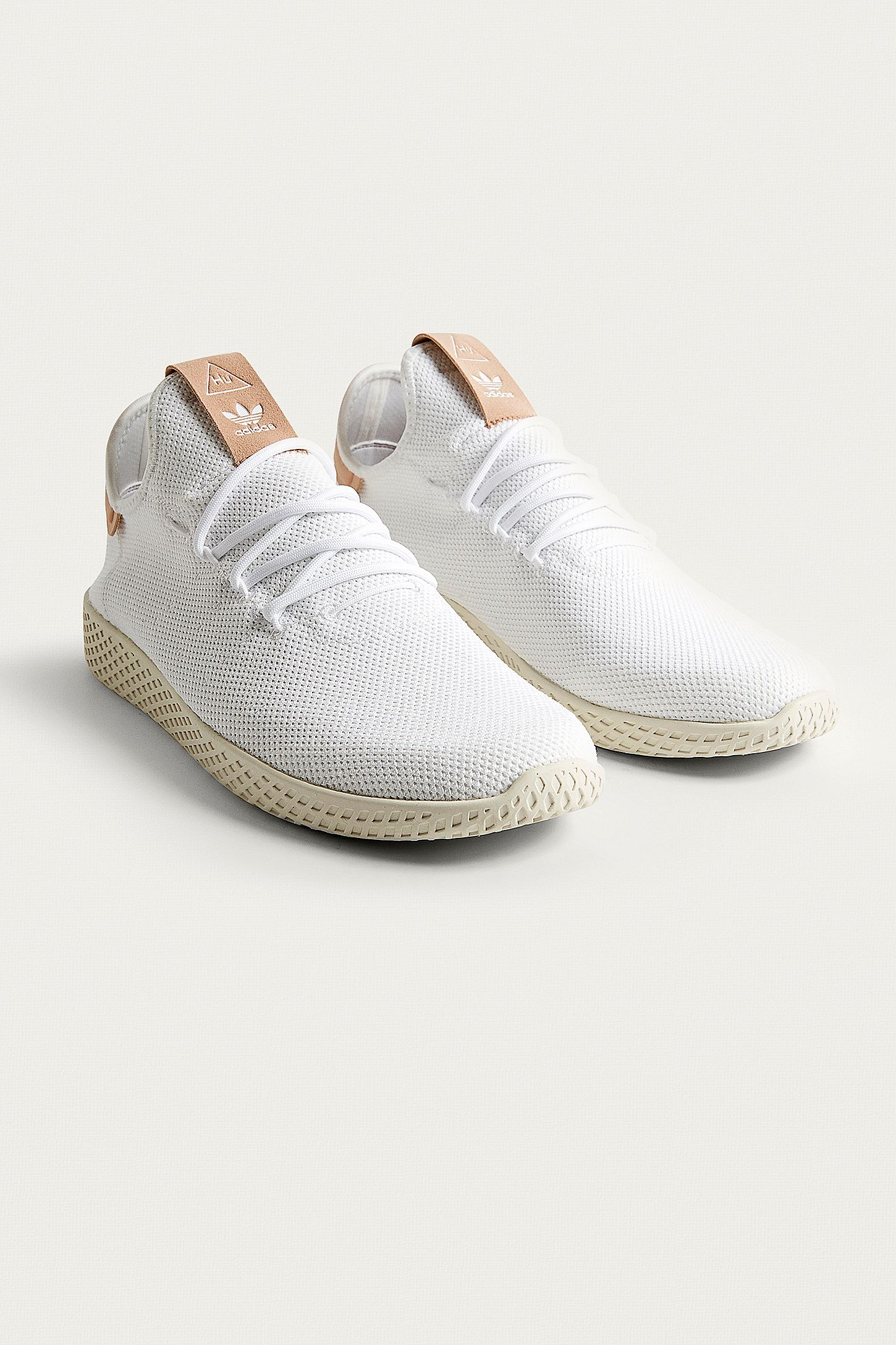 b6767ee82b641 adidas Pharrell Williams White Tennis HU Trainers